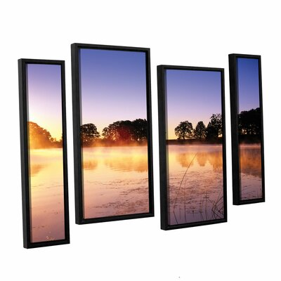 Morning 4 Piece Framed Photographic Print Set