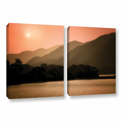Peach Dream 2 Piece Photographic Print on Wrapped Canvas Set
