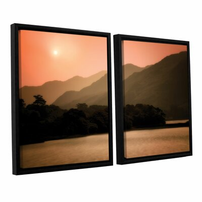 Peach Dream 2 Piece Framed Photographic Print Set