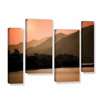 Peach Dream 4 Piece Photographic Print on Wrapped Canvas Set