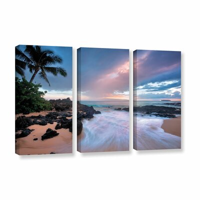 Cool Breeze 3 Piece Photographic Print on Wrapped Canvas Set Size: 24