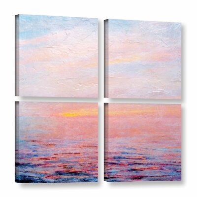 Landscape Study I 4 Piece Painting Print on Wrapped Canvas Set