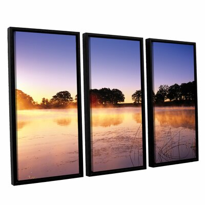 Morning 3 Piece Floater Framed Photographic Print Set