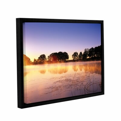 Morning Floater Framed Photographic Print Size: 14