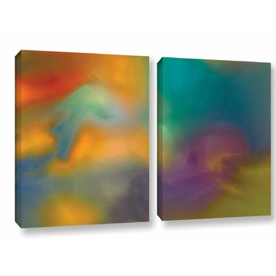 Fantasy in Colour 2 Piece Painting Print on Wrapped Canvas Set Size: 18