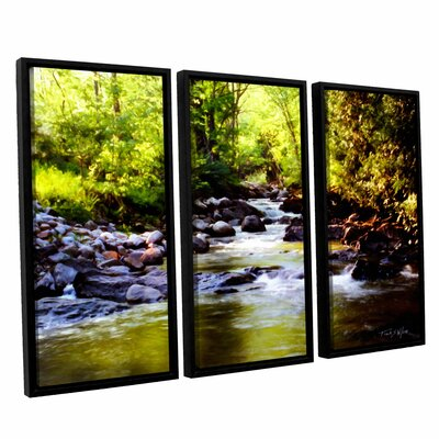 Woodland Brook 3 Piece Framed Painting Print Set
