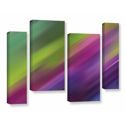 Frozen Light  4 Piece Graphic Art on Wrapped Canvas Set