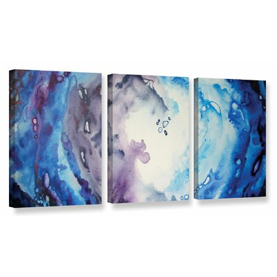 Moonlight by 3 Piece Painting Print on Wrapped Canvas Set Size: 18