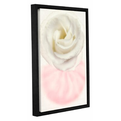 Swirl Flower Framed Graphic Art Size: 18