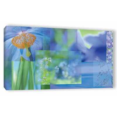 Blue Mood Collage Photographic Print on Wrapped Canvas Size: 12