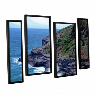 Sea Cave and Nesting Birds 4 Piece Framed Photographic Print Set Size: 24
