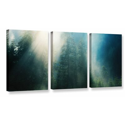Sunny Showers 3 Piece Photographic Print on Wrapped Canvas Set Size: 18