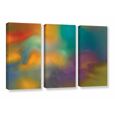 Fantasy in Colour 3 Piece Painting Print on Wrapped Canvas Set Size: 24