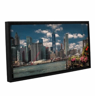 Flowers on The Pier Framed Photographic Print Size: 12