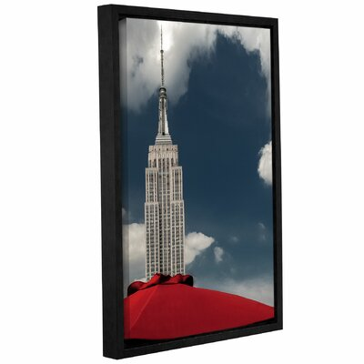 Empire and The Red Umbrella Framed Photographic Print Size: 18