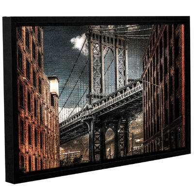Empire Shadow Manhattan Bridge Framed Photographic Print
