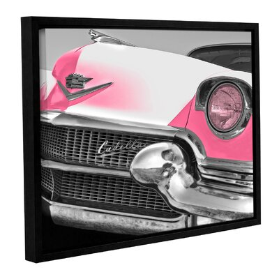 Pink Cadillac Framed Photographic Print Size: 14