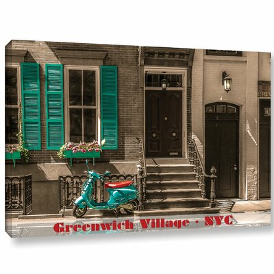 Greenwich Village Life Photographic Print on Wrapped Canvas Size: 12