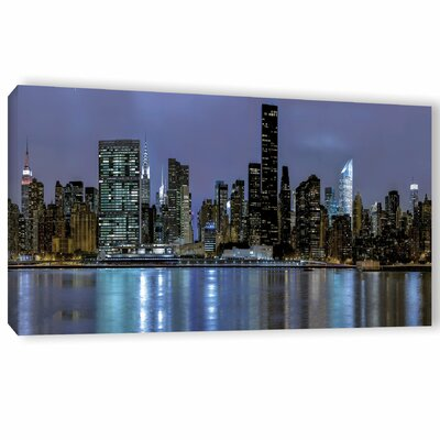 New York at Night II Photographic Print on Wrapped Canvas