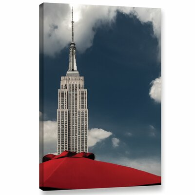 Empire and The Red Umbrella Photographic Print on Wrapped Canvas Size: 18