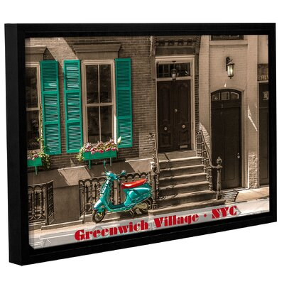 Greenwich Village Life Framed Photographic Print Size: 12