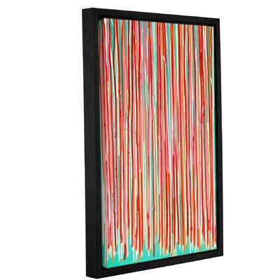 Fresh Turquoise Framed Painting Print