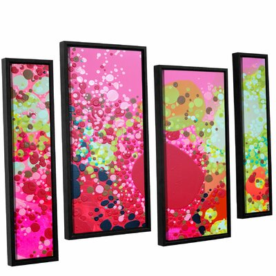 Long Kiss 4 Piece Framed Painting Print Set Size: 24