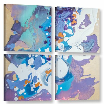 Perplexed 4 Piece Painting Print on Wrapped Canvas Set