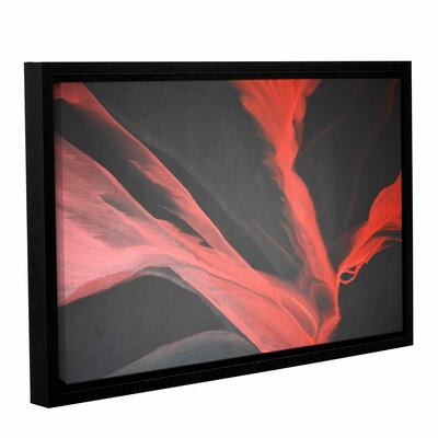 Breaking Red Framed Painting Print