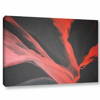 Breaking Red Painting Print on Wrapped Canvas Size: 12