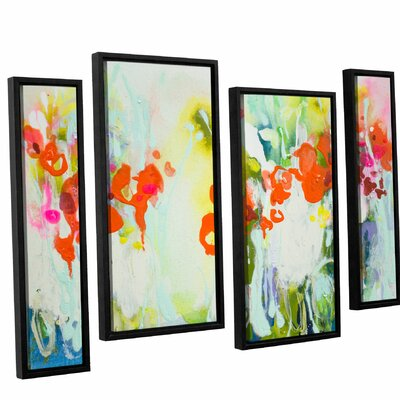 My Garden 4 Piece Framed Painting Print Set Size: 24