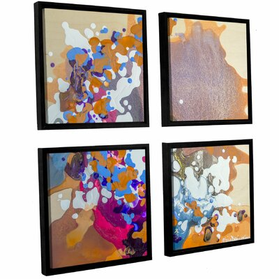Ambivalent 4 Piece Framed Painting Print Set