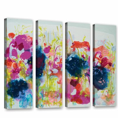 July Heat 4 Piece Painting Print on Wrapped Canvas Set