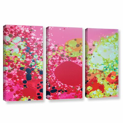 Long Kiss 3 Piece Painting Print on Wrapped Canvas Set Size: 24