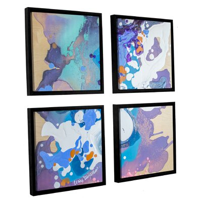 Perplexed 4 Piece Framed Painting Print Set