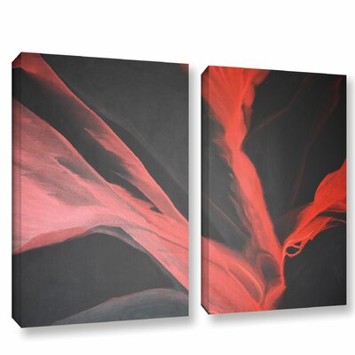 Breaking Red 2 Piece Painting Print on Wrapped Canvas Set Size: 18