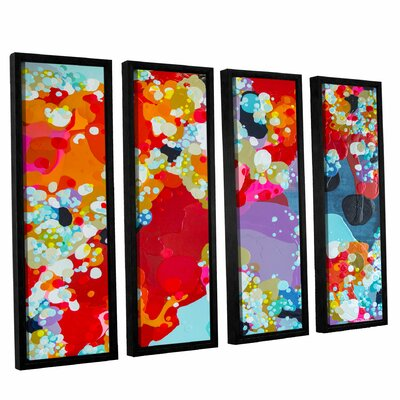 Without Boundaries 4 Piece Framed Painting Print Set Size: 24