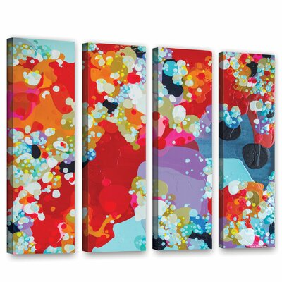 Without Boundaries 4 Piece Painting Print on Wrapped Canvas Set