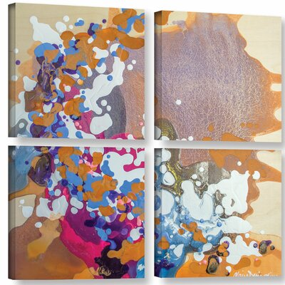Ambivalent 4 Piece Painting Print on Wrapped Canvas Set Size: 36