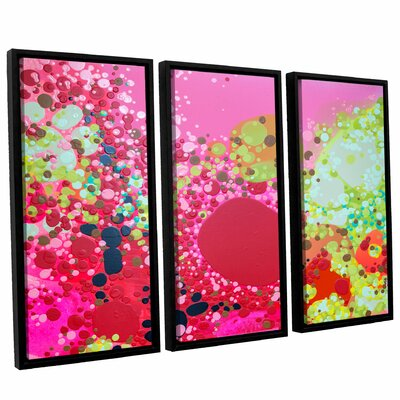 Long Kiss 3 Piece Framed Painting Print Set Size: 24
