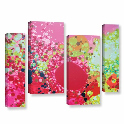Long Kiss 4 Piece Painting Print on Wrapped Canvas Set Size: 24