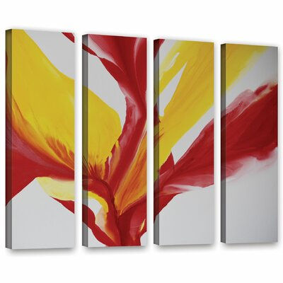 Brimming II 4 Piece Painting Print on Wrapped Canvas Set