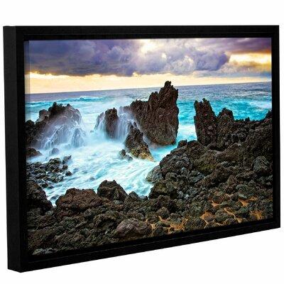 Lava Coast Framed Photographic Print Size: 12
