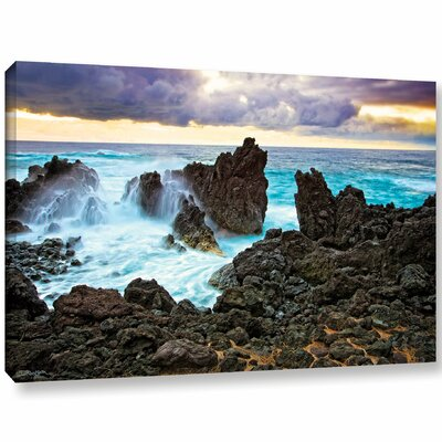 Lava Coast Photographic Print on Wrapped Canvas Size: 12