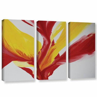 Brimming II 3 Piece Painting Print on Wrapped Canvas Set