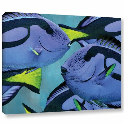 Blue Tang Graphic Art on Wrapped Canvas