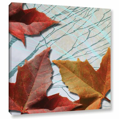 Untitled Leaves IV Graphic Art on Wrapped Canvas