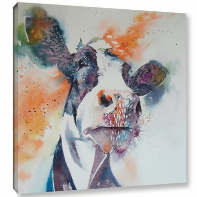 Cow 29 Painting Print on Wrapped Canvas Size: 10