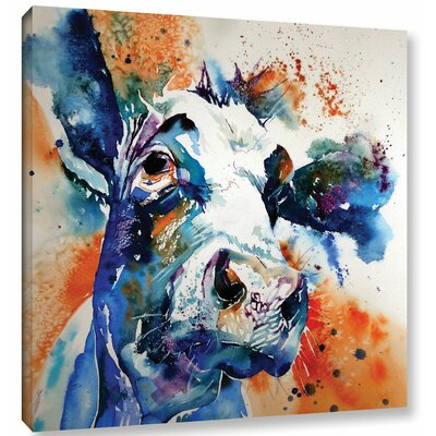 Cow 37 Painting Print on Wrapped Canvas Size: 10