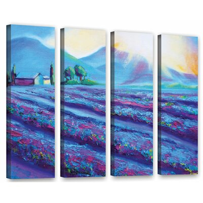 Provence Dawning 4 Piece Painting Print on Wrapped Canvas Set Size: 24